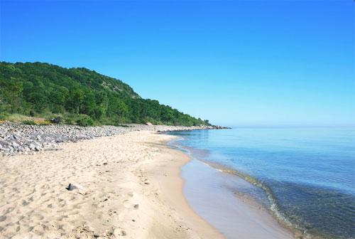 Пляжи Сконе