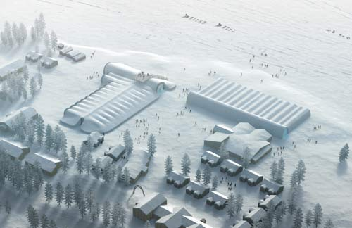 План ледяного отеля в Швеции
